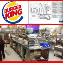 Équipement de cuisine de restaurant d'hamburger de magasin de restauration rapide d'équipement de Shinelong en Chine