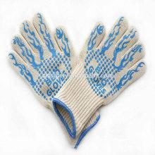 TE01BK Meilleur vendeur 14 pouces longues mitaines de four, gants de gril résistant à la chaleur extrême de 932f pour la cuisson de cuisson