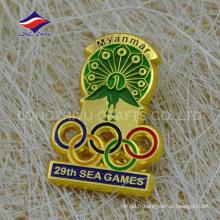 Private private Burma gold award badge de jeux de mer