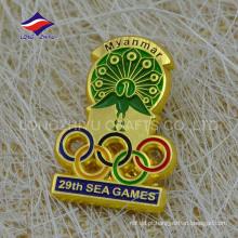 Distintivo de jogos de mar com distintivo de ouro da Birmânia personalizado