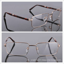 Metal Mix Acetate Men′s Frame Full Rim Eye Glass (0451)