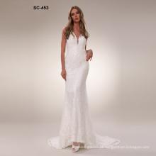 New fashion lady luxurious mermaid wedding dress bridal gown 2019
