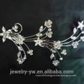 Fashion flower bridal comb ladies hair jewelry comb different hair combs hair clips metal