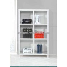 American style MDF white low bookshelf 01