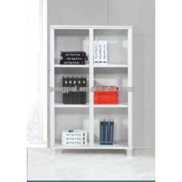 American style MDF white low bookshelf 002