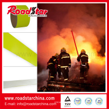 Tecido retardante de chamas reflexivo de segurança amarelo fluorescente