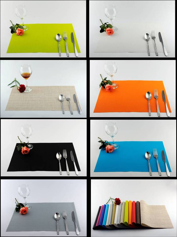 Pure color series of household business dining mat decoration02