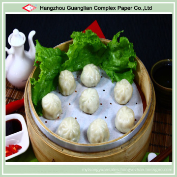 """5.5"""" Silicone Treated Non-Stick Dimsum Paper Steaming Liners for Siopao"""