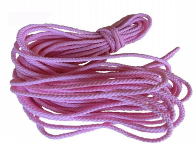 Pink Twisted Cord for shoelack