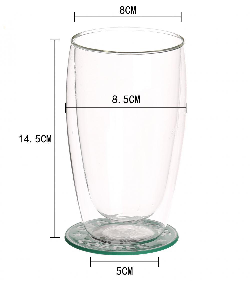300ml Handmade Double Wall Glass Cup For Coffee