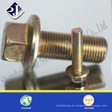 Parafuso de flange chapeado zinco amarelo de SGS (DIN6921)