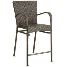 Taburete de la silla de mimbre al aire libre, jardín Patio muebles rota Bar