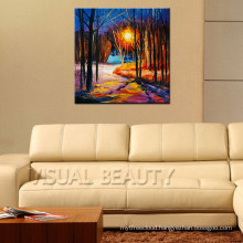 Palette Knife Oil Painting On Canvas For Decor
