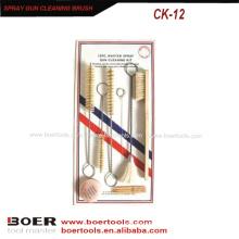 Spray Gun Cleaning Brush Kit Spray Gun repair brush tool slide card