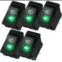 5 X 12V 35A Car Fog Light Rocker Toggle Switch 4pin Green LED Dashboard Sales