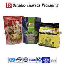 Masque en plastique flexible d'aliment pour animaux de compagnie de sac / sac en plastique en aluminium