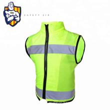 Reflective Vest Knitting Polyester Fabric Kids Reflective Safety Vest Children High Visibility Security