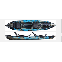 fishing boat factory wholesale 2 person tandem fishing kayak with rudder and chair