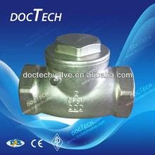 Dn100 aço inoxidável Swing Check Valve 200 WOG extremidade roscada fabricada na China