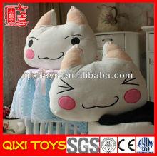Latest design high quality plush cat pillow