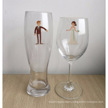 Bride Groom Toasting Glasses - Engagement - Wedding - Couples Gifts - Bridal - Wedding Shower - Wine Beer Set - Original Gift