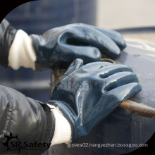 SRSAFETY Heavy duty work glove Oil industrial nitrile glove