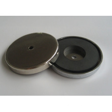Round Base Ferrite Pot Magnet