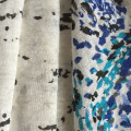 Painted print linen fabric reactive print single jersey