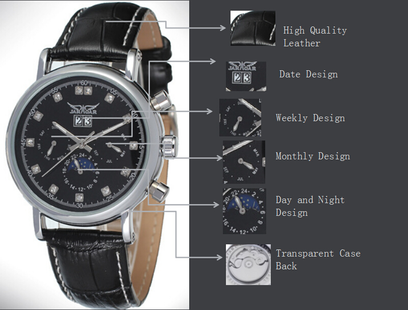 Alloy Case OEM/ODM Mineral Glass Wrist Watch