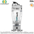 2016 Hot Sale Popular USB Plastic Electric Shaker Water Bottle, BPA Free Electric Protein Shaker Bottle (HDP-0824)