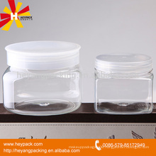 wide mouth 250ml plastic jar transparent