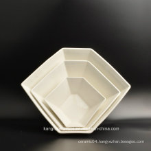 White Glazed Hotel Stoneware Ceramic Plate
