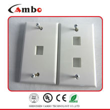 China suppliers 1/2/4 Port Australia wall plate cat 6 cable wall box