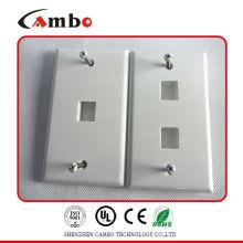 Fornecedores da China 1/2/4 Port Australia placa de parede cat 6 caixa de parede de cabo