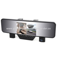 Car camera, ultra-thin mirror and dual lens design, built-in lithium battery and microphone/speaker