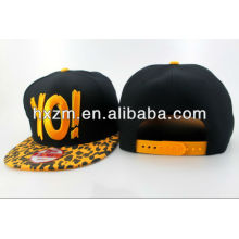 3d gold letters bolted snapback cap hat