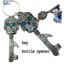 Porte-clés en caoutchouc en alliage en bouteille en métal