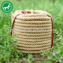 3-strand twisted natural jute rope natural fiber rope jute rope 6mm