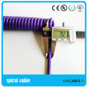 Flexible electric motor Coiled Cable,Electric Motor Spiral Cable