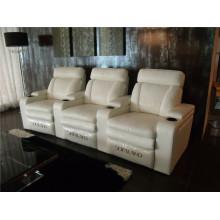 Sofá de salón con sofá moderno de cuero genuino (920)