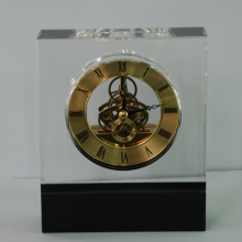 Colour Mixed Special Crystal Clock with Time Adjustment Knob