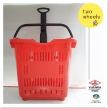 Supermarket Two Wheel Go Basket Cart