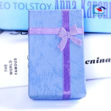 Cajas de regalo al por mayor de la joyería del terciopelo de China caja de regalo del collar y del pendiente de la cartulina
