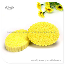 Yellow Compressed Sponge for Face Washing