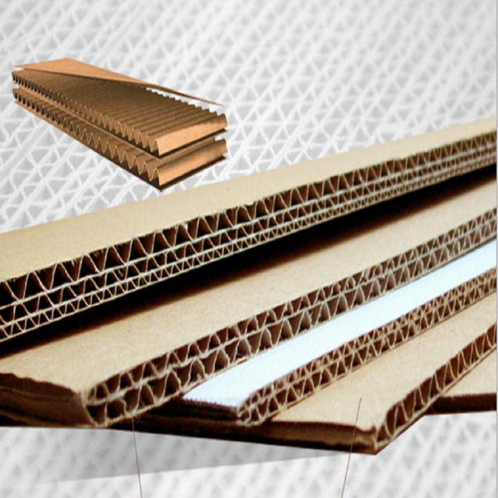 Five-layer reinforced corrugated core.