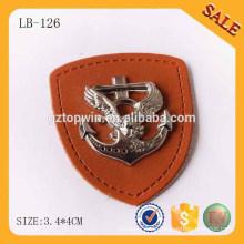LB126 Fashion Jeans Etikett Metall Leder Etikett Patch für Kleidung