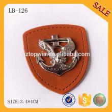LB126 Forme los pantalones vaqueros etiqueta el remiendo de la etiqueta del cuero del metal para la ropa
