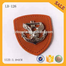 LB126 Fashion jeans label metal leather label patch for clothing