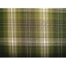 Tissu à carreaux teintés au fil CVC