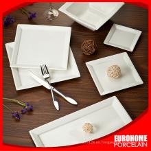 ventas directas de fábrica en vajillas de porcelana china super blanco